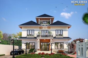 Mẫu biệt thự nhà vườn 2,5 tầng mái thái đẹp tại Hà Nội – Mã số: ACHI 23033