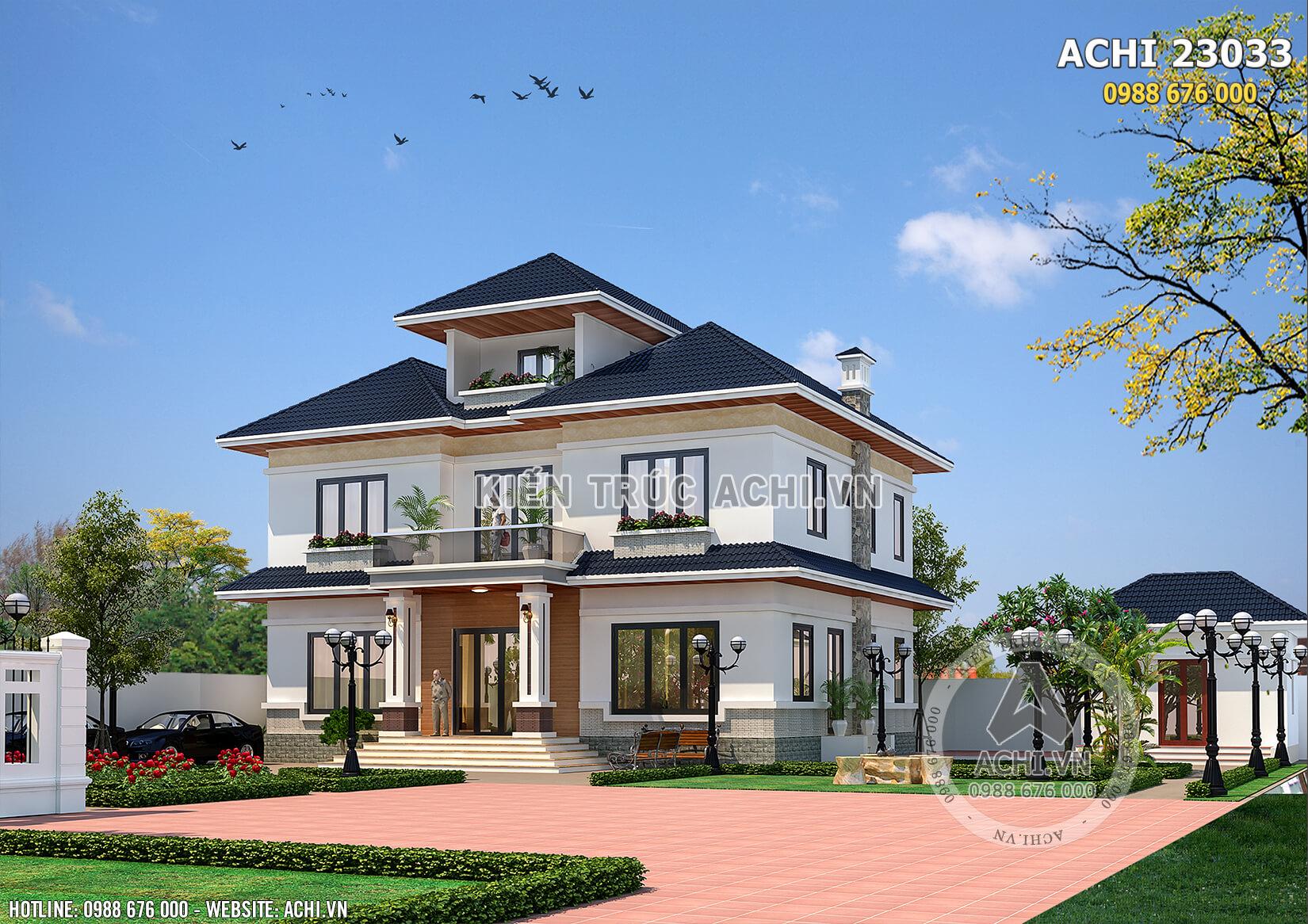 Mẫu nhà 2.5 tầng đẹp với ngoại thất hiện đại, nội thất sang trọng tiện nghi tạo nên một không gian sống lý tưởng cho gia chủ