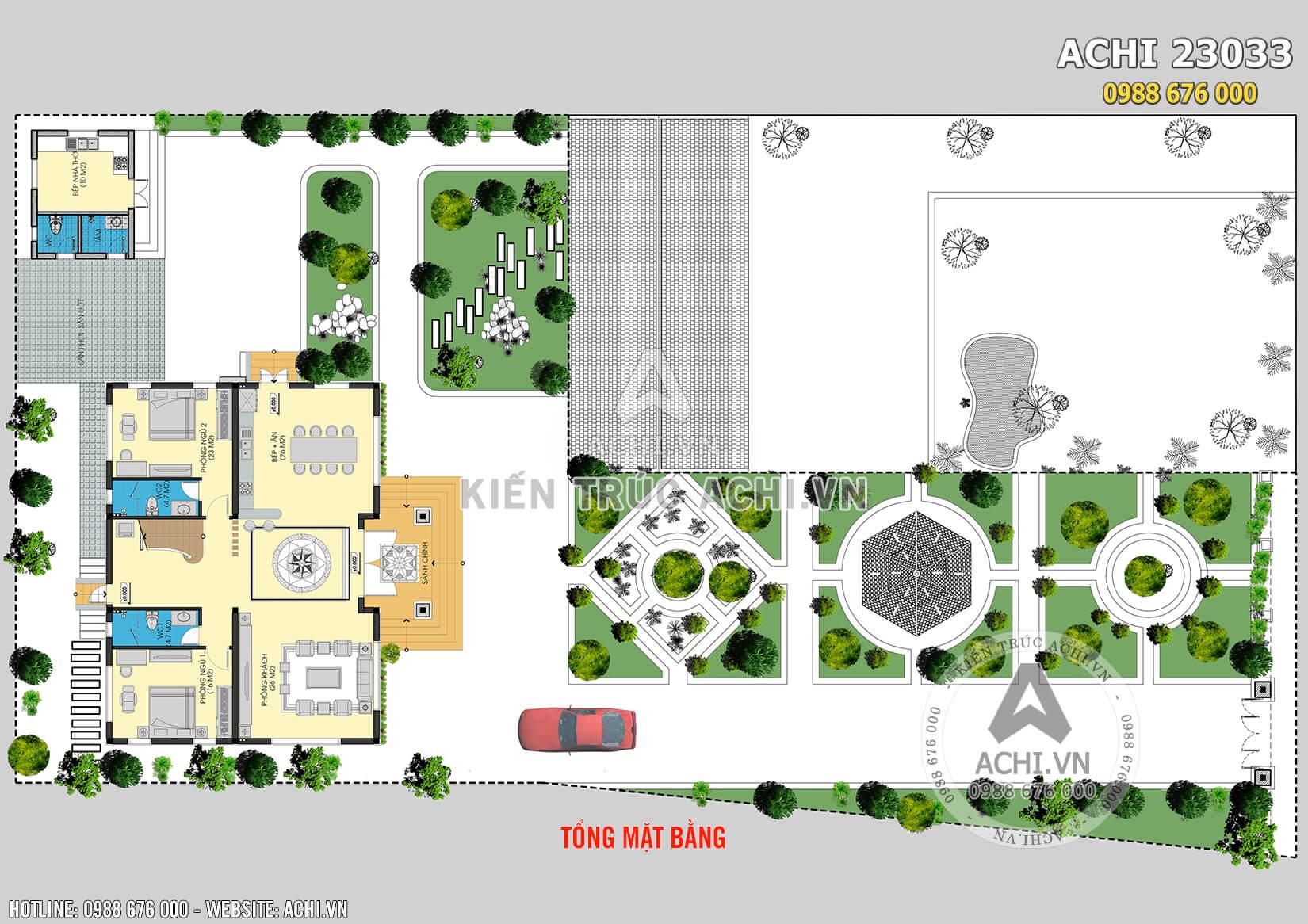 Tổng quan mặt bằng bố trí công năng mẫu nhà 2,5 tầng đẹp tại Hà Nội