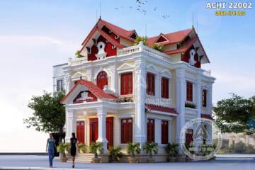 Ngỡ ngàng với mẫu biệt thự kiến trúc Pháp 2 tầng đẹp – Mã số: ACCHI 22002