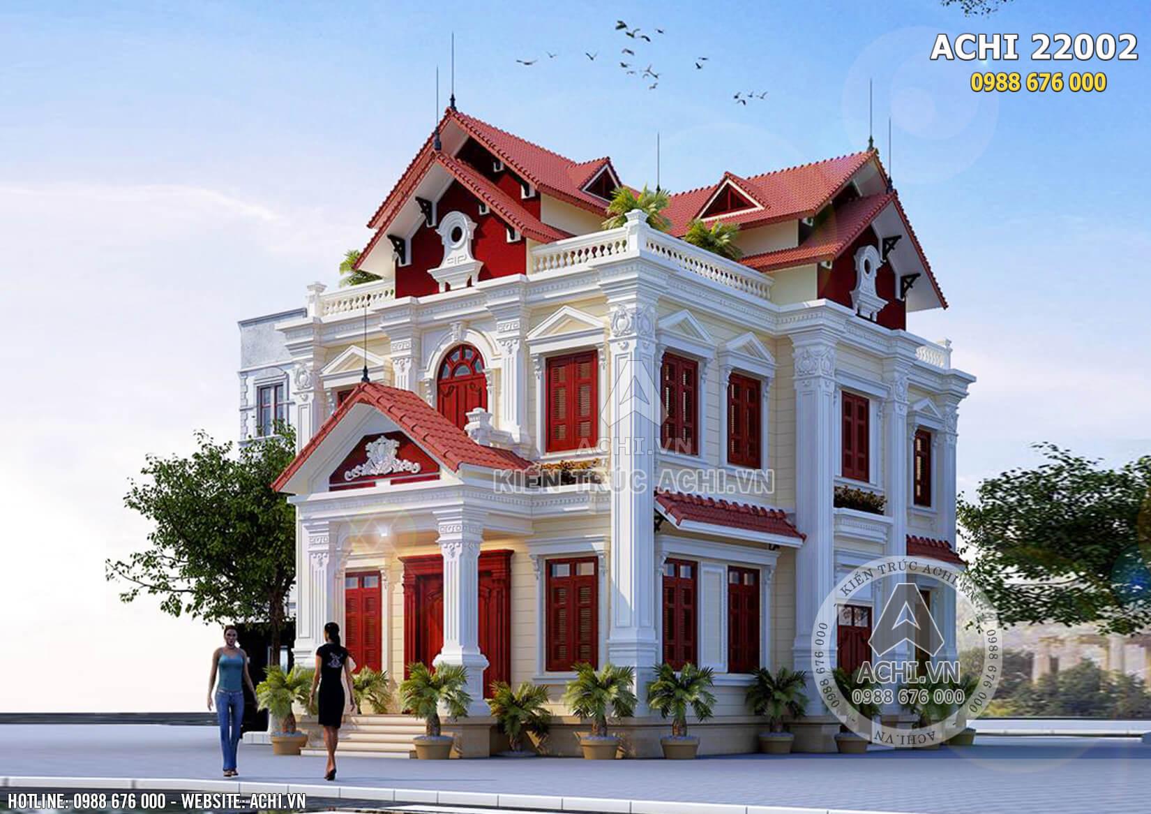 Kiến trúc Pháp đẹp trong mẫu biệt thự 2 tầng