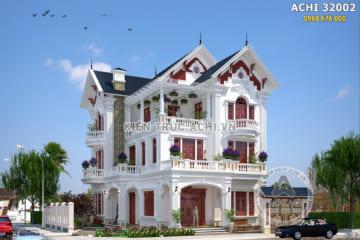 Mẫu biệt thự mái Thái 3 tầng đẹp kiến trúc Pháp tại Nam Định – Mã số: ACHI 32002