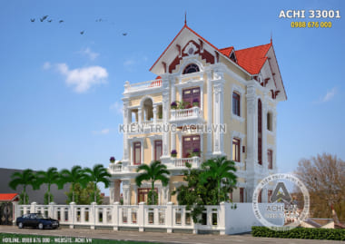 Tổng hợp các mẫu nhà 3 tầng kiểu Pháp sang trọng và đẳng cấp