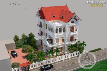 Say đắm với mẫu biệt thự tân cổ điển kiến trúc Pháp 3 tầng đẹp – Mã số: ACHI 33001