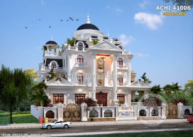 Mẫu dinh thự 4 tầng tân cổ điển đẹp sang trọng- ACHI 41006