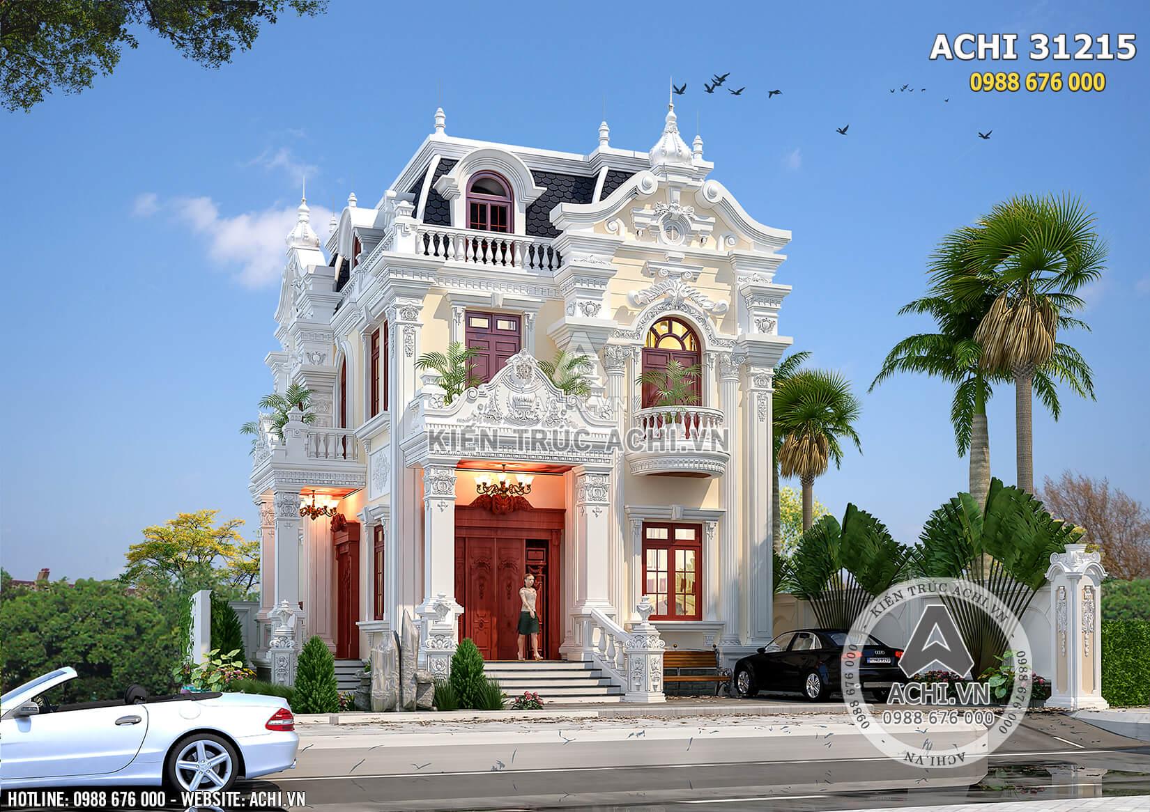 Kiến trúc Pháp đầy mê hoặc trong thiết kế biệt thự 3 tầng tân cổ điển