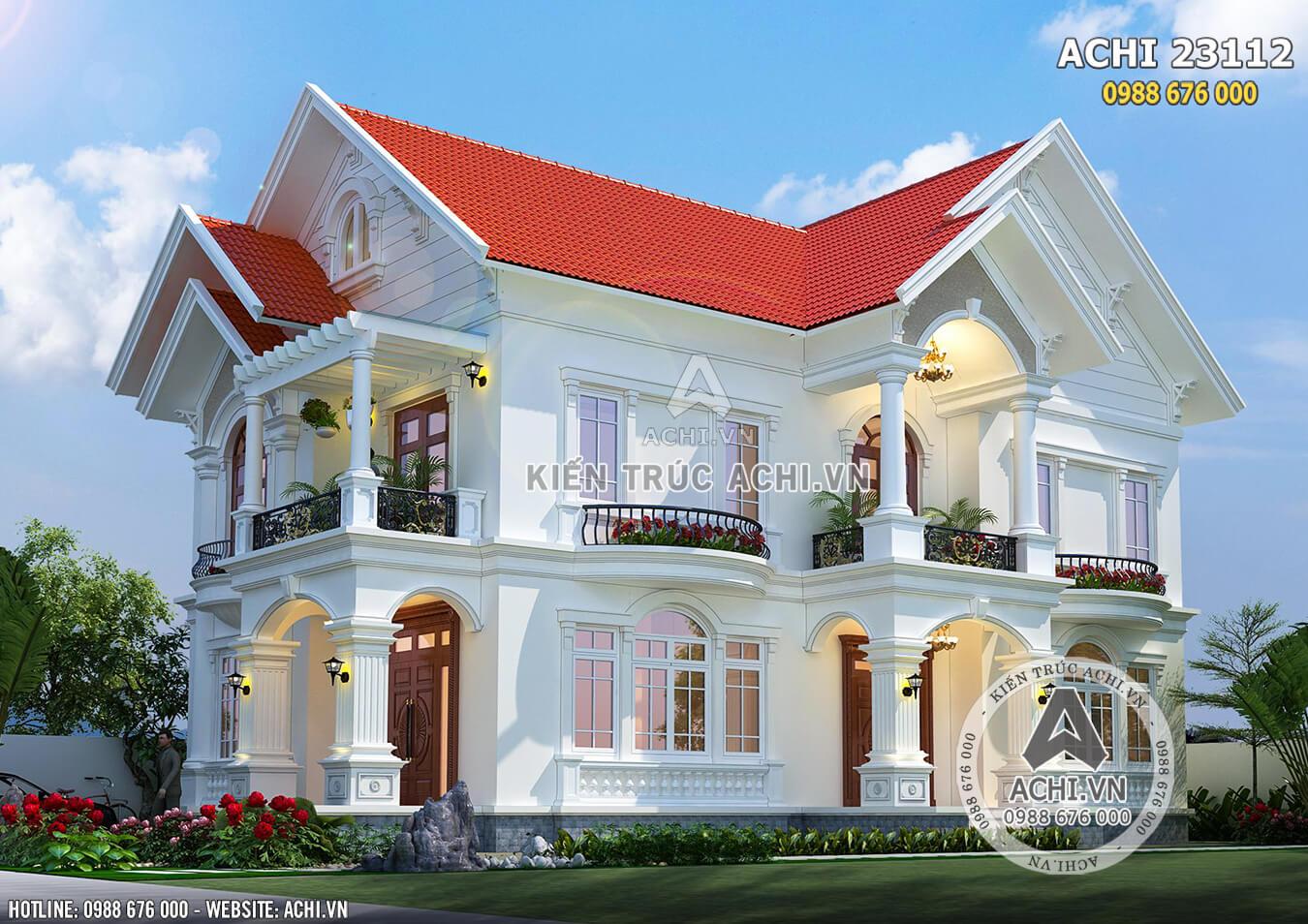 Một góc view của biệt thự mái Thái 2 tầng đẹp - Mã số: ACHI 23112