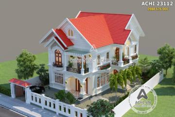Thiết kế biệt thự mái Thái 2 tầng đẹp nổi bần bật giữa vùng quê thanh bình – Mã số: ACHI 23112