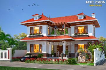 Biệt thự mái Thái 2 tầng đẹp tại Bắc Giang – Mã số: ACHI 23036
