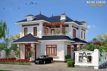 Biệt thự mái Thái 2 tầng tân cổ điển đẹp ở Vĩnh Phúc – Mã số: AChi 23035