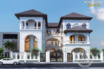 Mẫu biệt thự song lập kiến trúc Địa Trung Hải đẹp tại Sài Gòn – Mã số: AChi 32200