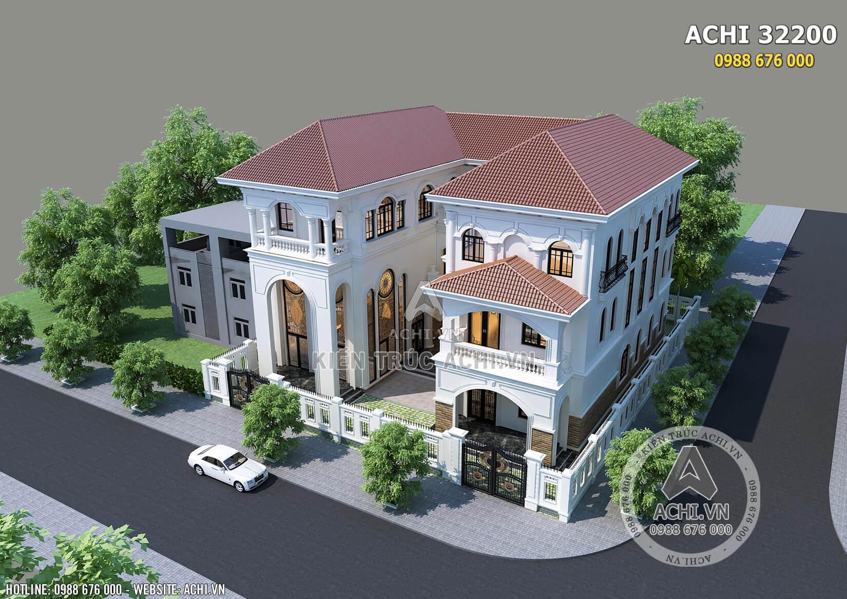 Mẫu biệt thự song lập kiến trúc địa trung hải đẹp tại Sài Gòn