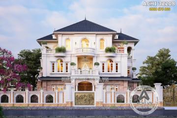 Biệt thự tân cổ điển 3 tầng đẹp sang trọng 220m2 – ACHI 32208