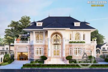 Biệt thự 2 tầng tân cổ điển kiến trúc Pháp – ACHI 22006