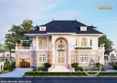 Mẫu biệt thự 2 tầng tân cổ điển kiến trúc Pháp - ACHI 22006
