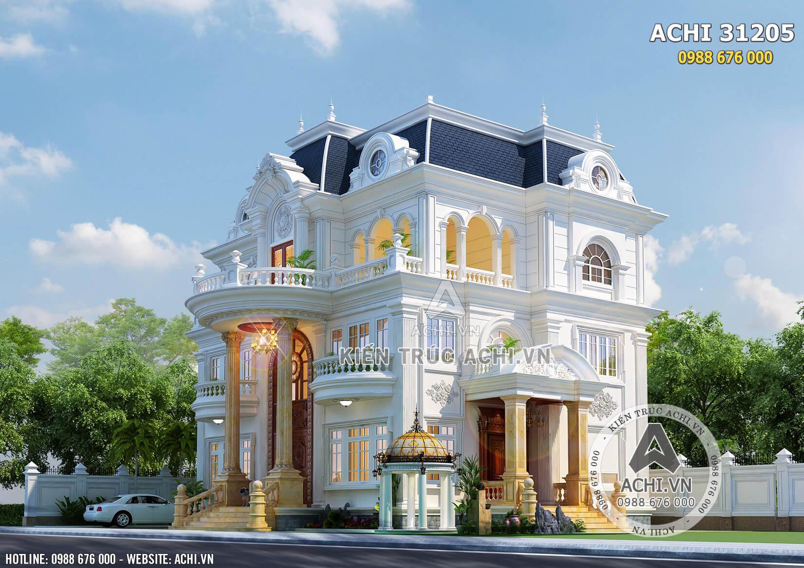 Một góc view của mẫu biệt thự 3 tầng tân cổ điển đẹp tại Sài Gòn