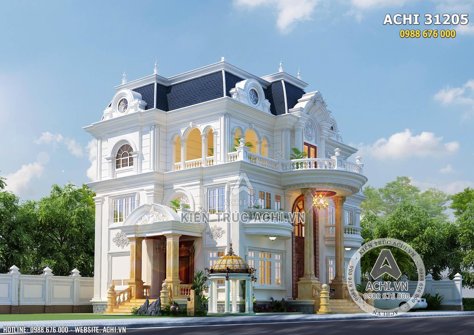 Kiến trúc Pháp đẹp của mẫu biệt thự 3 tầng tại Sài Gòn