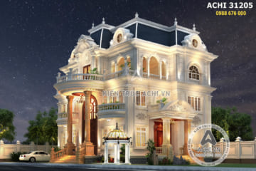 Mẫu biệt thự 3 tầng tân cổ điển đẹp tại Sài Gòn – Mã số: ACHI 31205