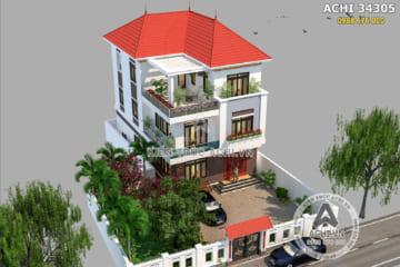 Mẫu biệt thự mái Thái hiện đại 3 tầng – Mã số: ACHI 34305