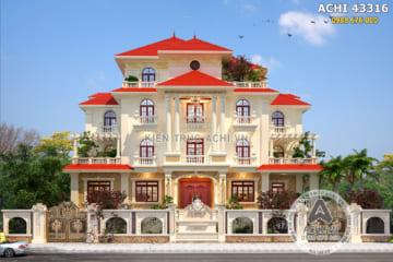 Mẫu biệt thự mái Thái mang kiến trúc Pháp đẹp tại Thanh Hoá – Mã số: ACHI 43316