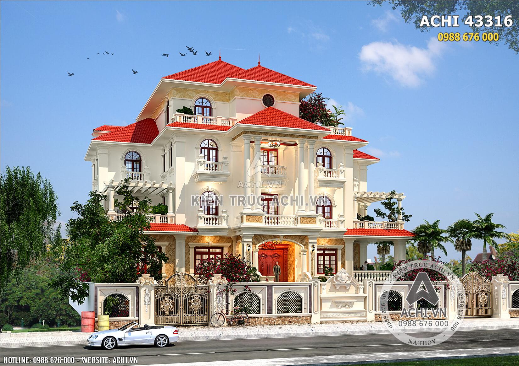 Một góc view biệt thự 4 tầng đẹp tại Thanh Hóa