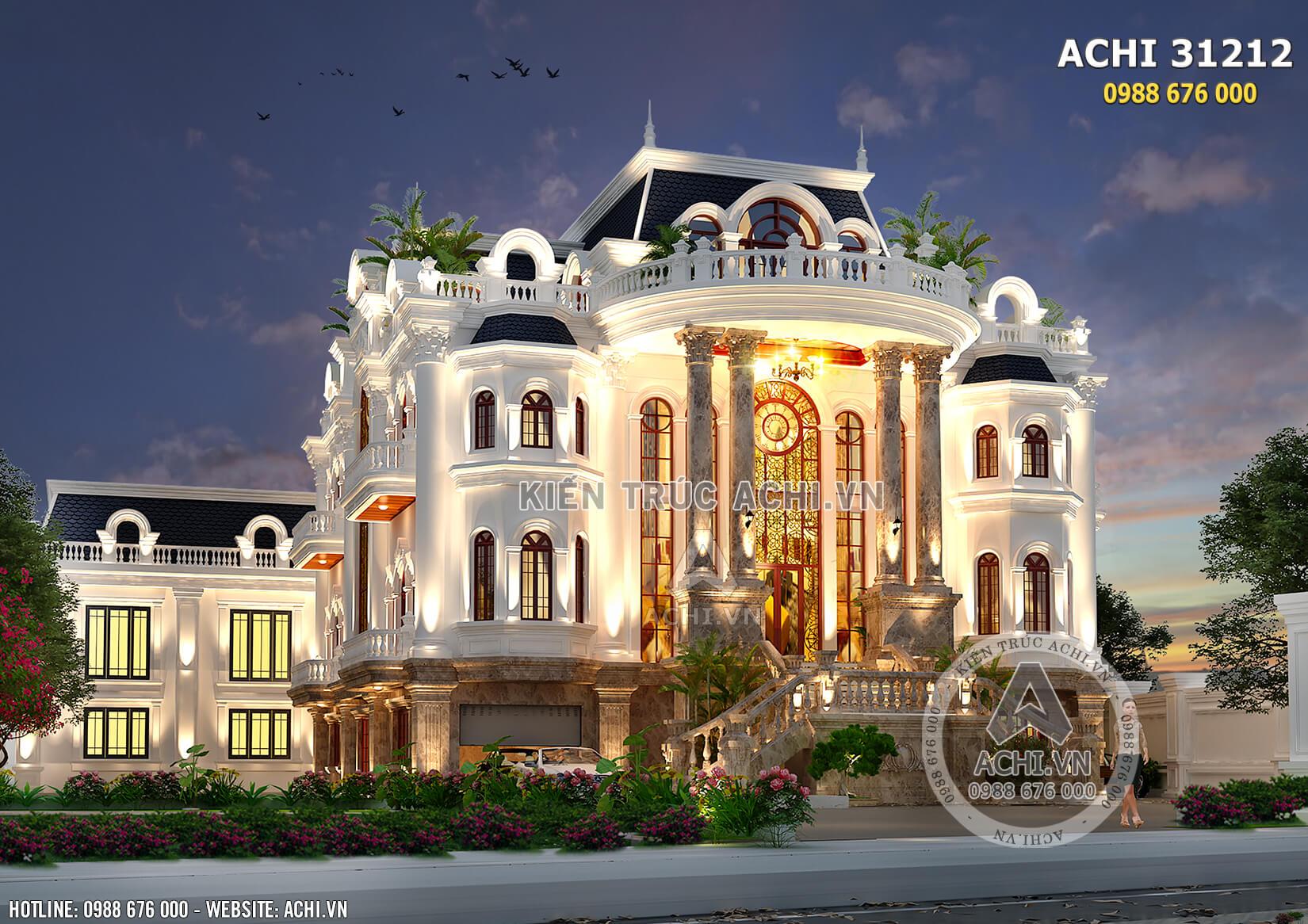 Kiến trúc Pháp đẹp như cung điện hoàng gia của mẫu biệt thự 3 tầng tân cổ điển