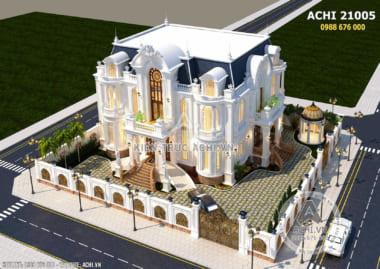 Biệt thự đẹp 3 tầng tân cổ điển sang trọng – ACHI 21005