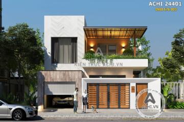 Nhà 2 tầng hiện đại đẹp ấn tượng độc đáo – ACHI 24401