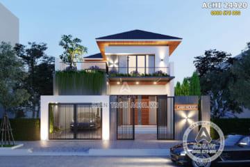 Mẫu nhà 2 tầng hiện đại đẹp sang trọng – ACHI 24420