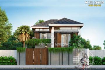 Mẫu nhà 2 tầng mái Thái hiện đại mặt tiền 10m2 – Mã số: ACHI 24418
