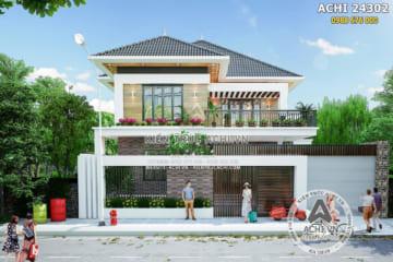 Mẫu nhà 2 tầng mái thái hiện đại tại Tuyên Quang – ACHI 24302