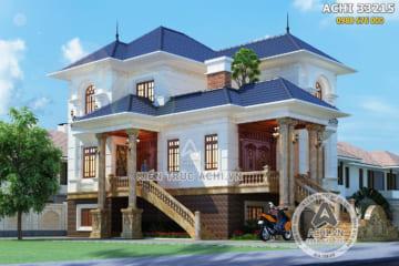 Mẫu nhà 3 tầng tân cổ điển đẹp nhẹ nhàng – ACHI 33215