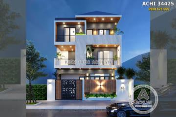 Mẫu nhà hiện đại 3 tầng mái thái đẹp – ACHI 34425
