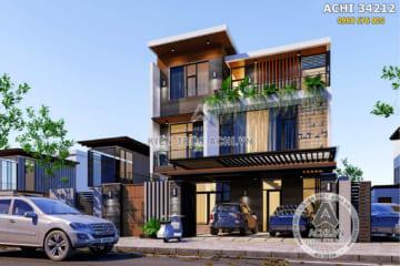 Mẫu nhà hiện đại đẹp 3 tầng sang trọng – ACHI 34212