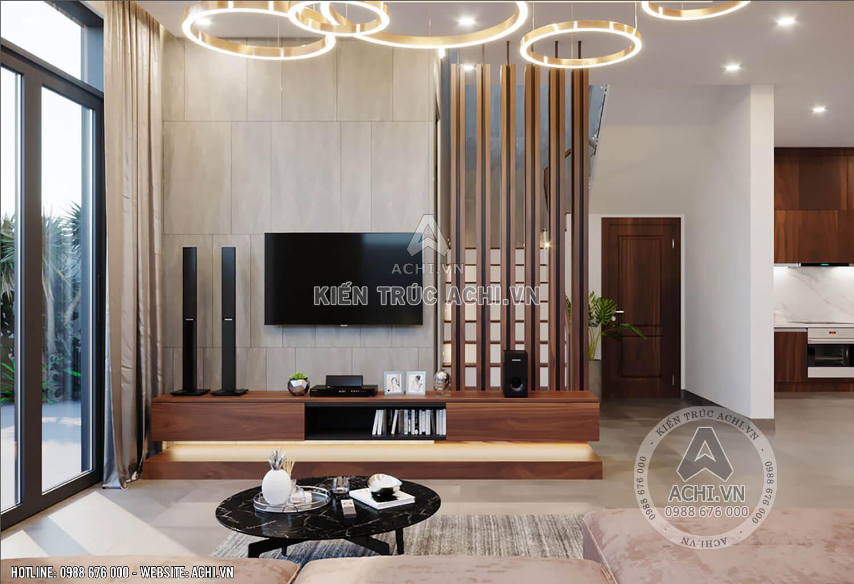 Kệ tivi mẫu nhà 3 tầng hiện đại đẹp mặt tiền 10m