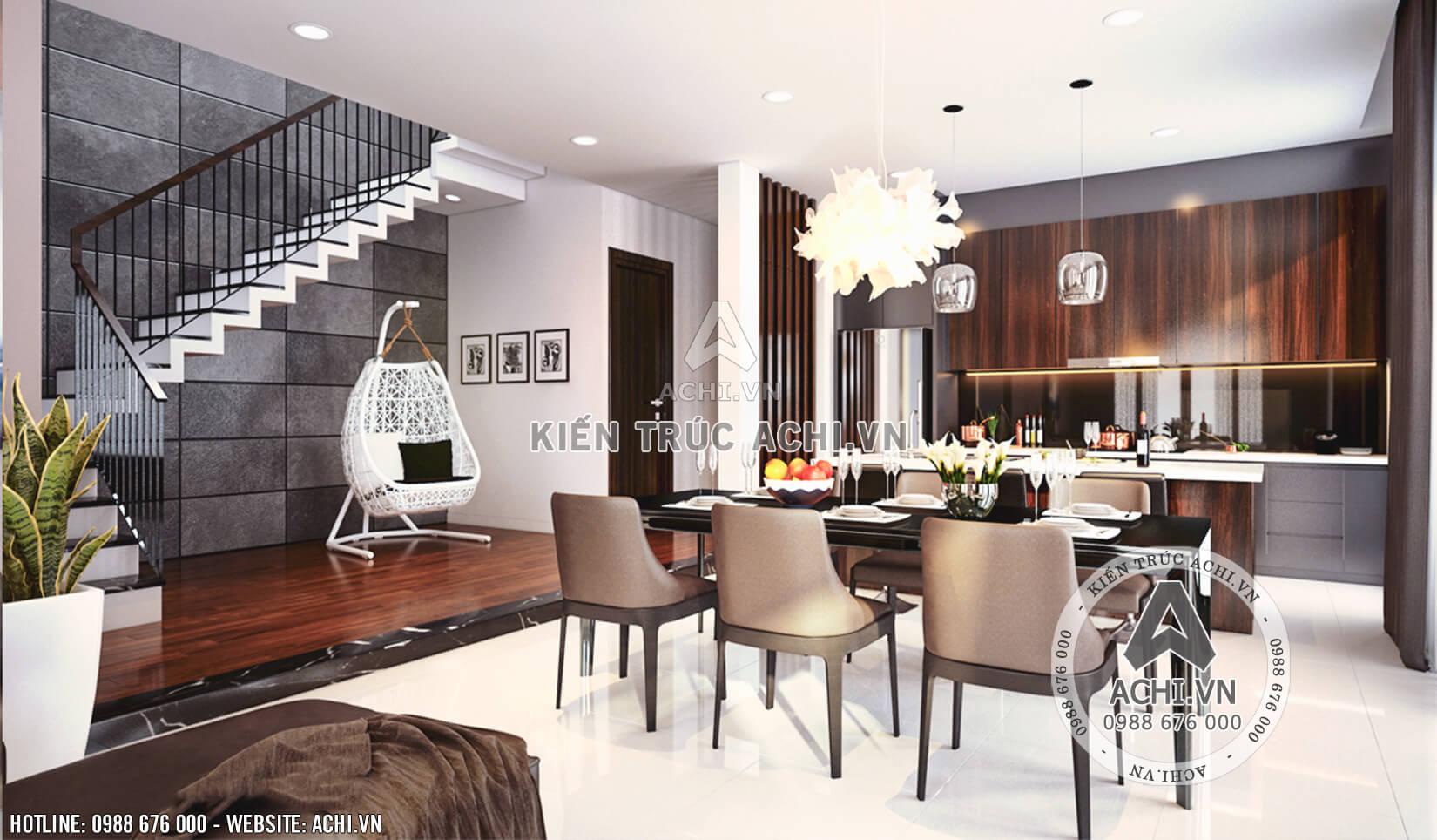 Nội thất phòng bếp mẫu nhà 2 tầng đẹp hiện đại đẹp