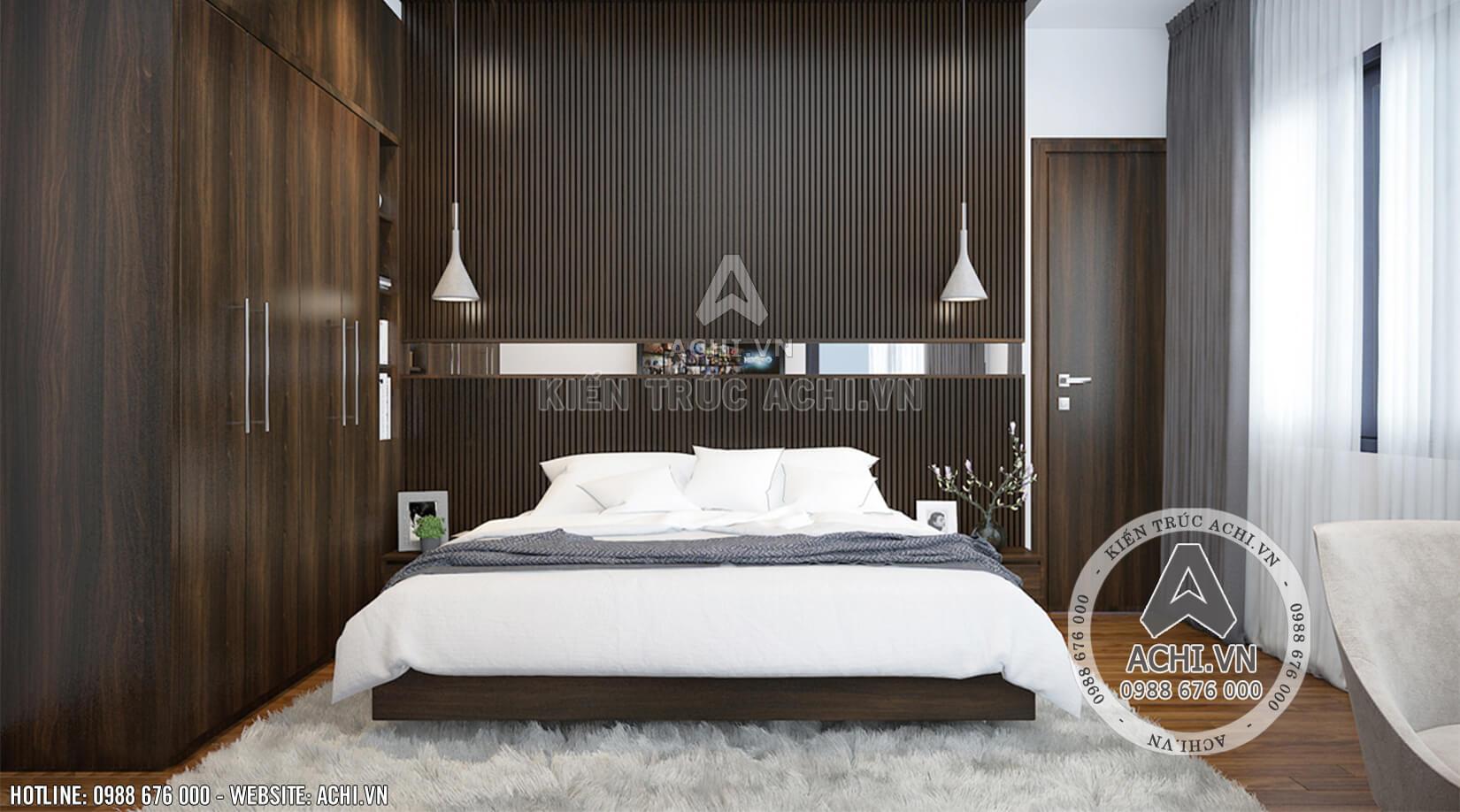 Nội thất phòng ngủ mẫu nhà hiện đại 2 tầng