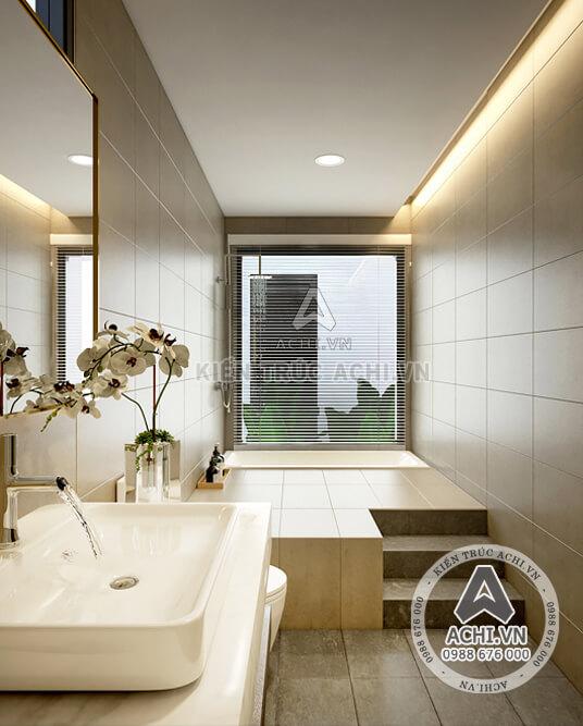 Nội thất phòng vệ sinh mẫu nhà hiện đại 2 tầng