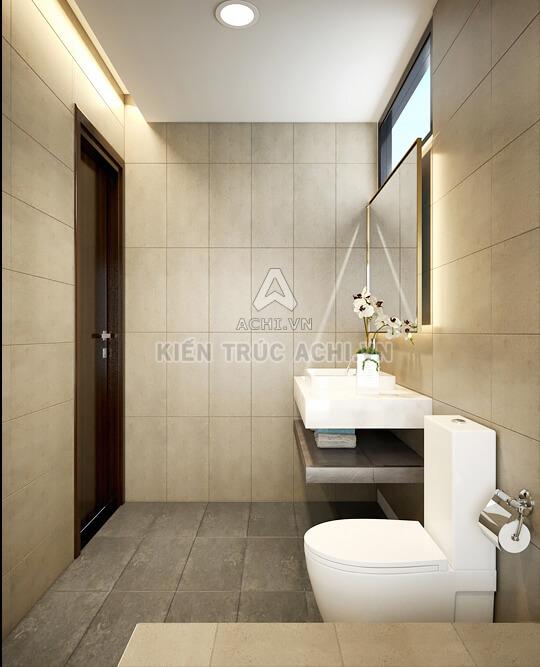 Nội thất phòng vệ sinh nhà 2 tầng đẹp hiện đại
