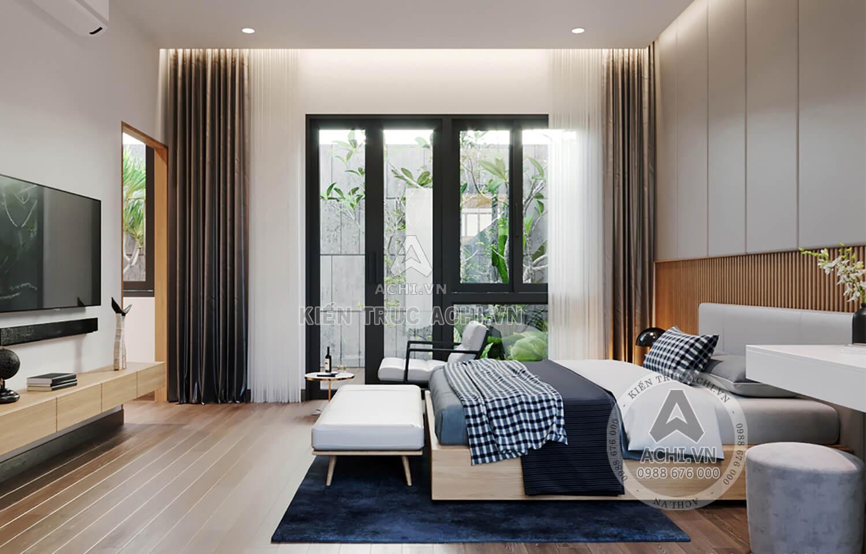 Nội thất phòng ngủ hiện đại, thoáng mát và rộng rãi