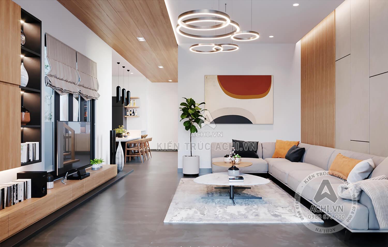 Không gian phòng khách thoáng rộng và ấn tượng