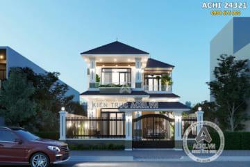 Thiết kế nội thất hiện đại mẫu nhà 2 tầng mái Thái đẹp- Mã số: ACHI 24321