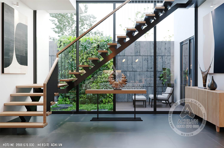 Nội thất nhà đẹp 2 tầng mái Thái - Mã số: 24321