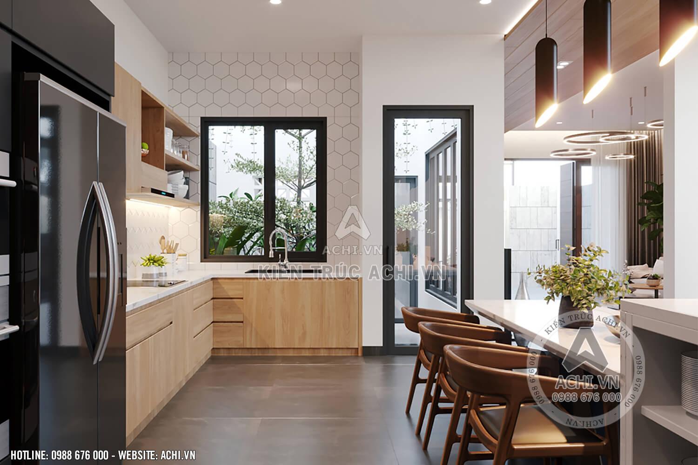 Thiết kế nội thất hiện đại không gian bếp ấm cúng