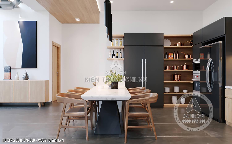 Nội thất phòng bếp và phòng ăn sang trọng, hiện đại và tiện nghi