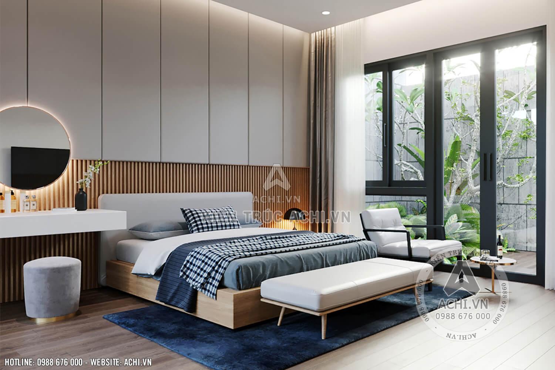 Không gian mở phòng ngủ hiện đại mẫu nhà mái Thái đẹp