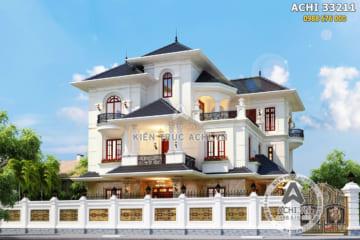 Thiết kế biệt thự 3 tầng kiến trúc Pháp tân cổ điển – Mã số: ACHI 33211