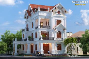 Thiết kế biệt thự mái Thái 3 tầng đẹp – Mã số: ACHI 33012