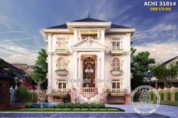 Thiết kế biệt thự tân cổ điển 3 tầng có bể bơi – Mã số: ACHI 31014