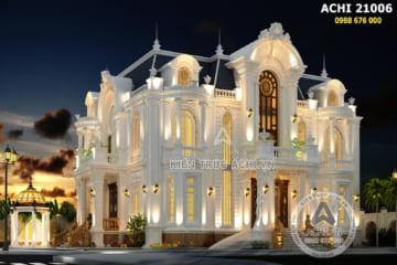 Thiết kế biệt thự tân cổ điển đẹp 3 tầng – Mã số: ACHI 21006